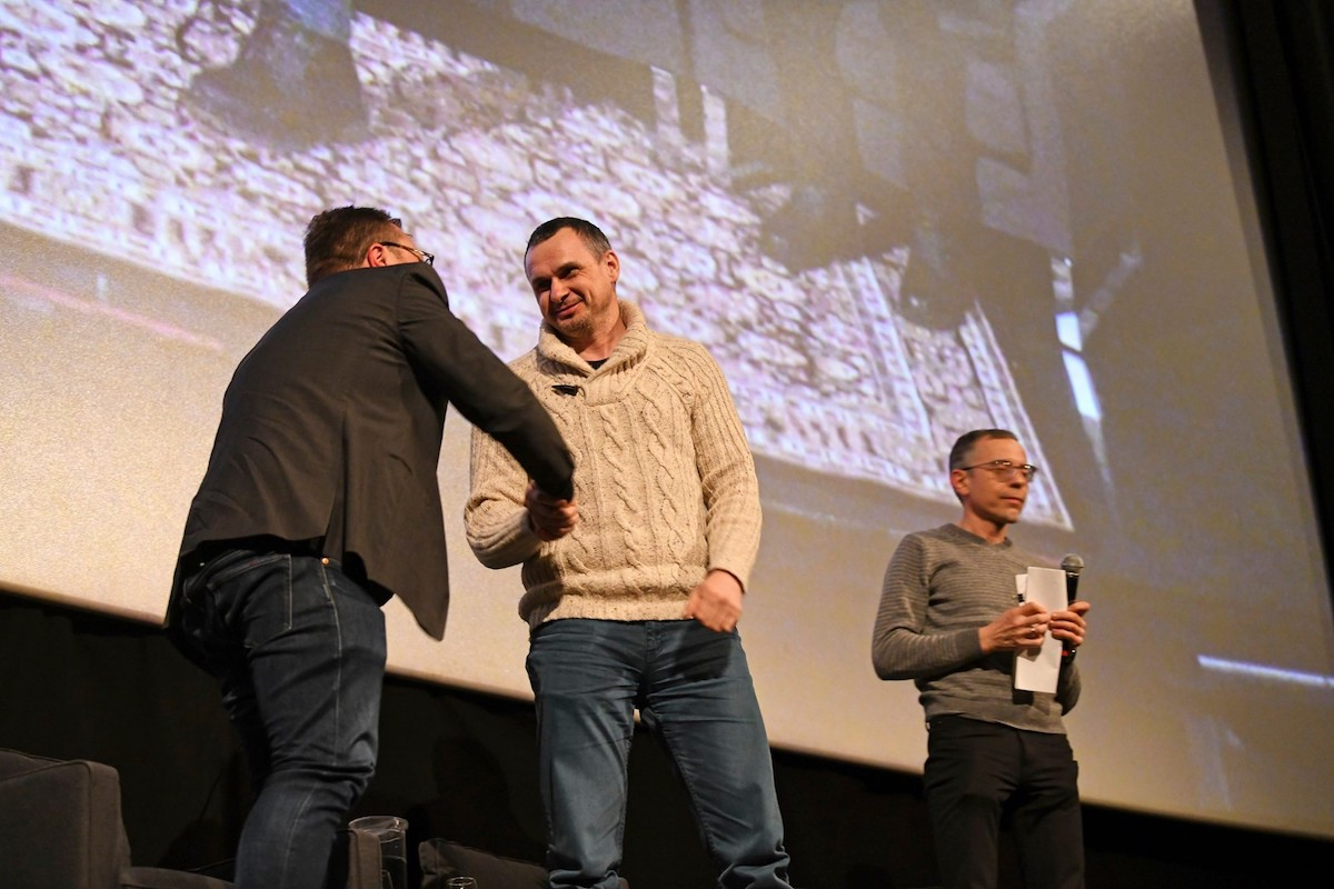 Marcus Kolga interviewed and moderated a Q&A with former Ukrainian political prisoner and filmmaker Oleg Sentsov at Toronto's HotDocs Cinema
