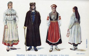 Estonian folk costumes - ERM