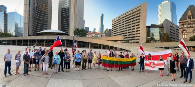 August 23, 2021 at Nathan Phillips Square, Toronto - photo by Peeter Põldre
