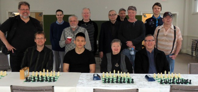 Players. From left to right front row: Alar Petersoo, Xian Wei Järve, Mai Vomm Järve, Farhad Bokaee. Back row from left to right: Jaak Järve, Richard Vale, Ernest Sinko, Don Mosley, Jaak Triefeldt , Mikk Mölder, Brendan Munro, Erik Kreem, Märt Tiido.