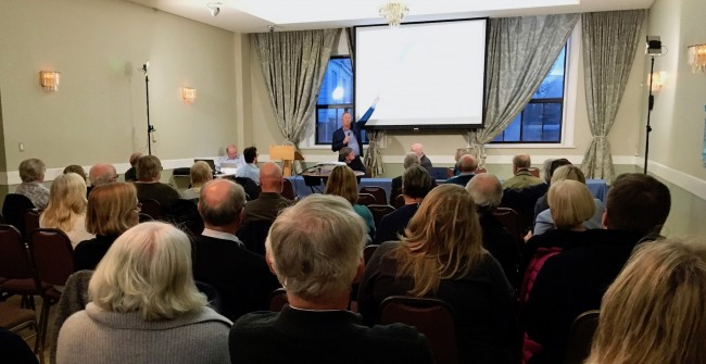 Caption for CES photo is:  Members of the Estonian community attended the International Estonian Centre (IEC) Community Information Session at the Estonian House on March 27 to hear the latest news and updates.