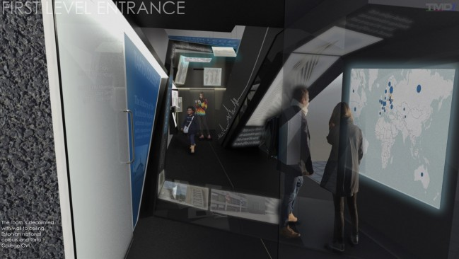 A concept image of the new museum's entrance.