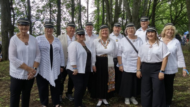 The Hamilton choir at the last Estonian Song and Dance Festival in 2019.
