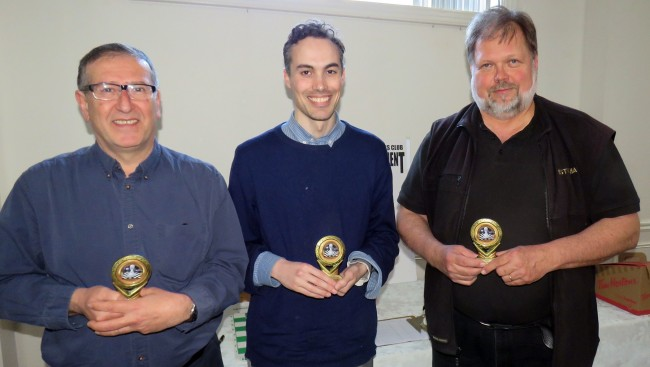The champions: Farhad Bokaee – 2nd place, Richard Vale- 1st place, Jaak Järve- 3rd place.