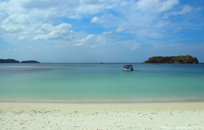 You can embrace the idyllic beauty of Satelmo cove as soon as you arrive on this private beach by boat from Pico de Loro Cove located on Hamilton Coast, Nasugbu in the Southern Luzon region of the Philippines. The marine area is protected by the local government. Photo by Ülle Baum ©2019
