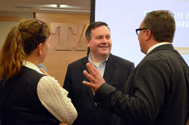 Canadian defense minister Jason Kenney at Tartu College - photo by Taavi Tamtik (2015)
