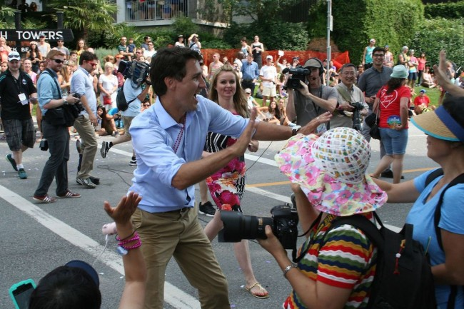 Justin Trudeau at the Vancouver LGBTQ Pride - www.wikipedia.org (2015)