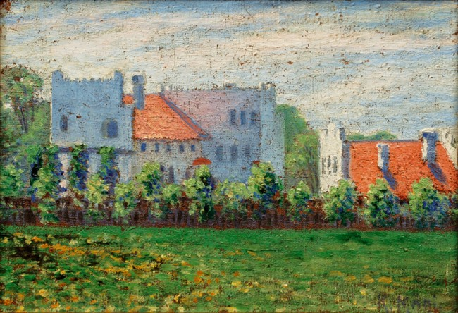 View of a Mansion by Konrad Mägi (c. 1910)