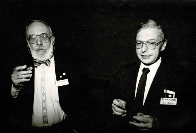 """The late Jyri Kork, former NASA mathematician and advisor to the Estonian General Staff; Jüri Adams, former MP, also recognized as the main """"author"""" of the current Estonian constitution."""