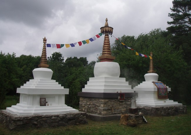 Stupas built by Vello Väärtnõu in Estonia in the 80s