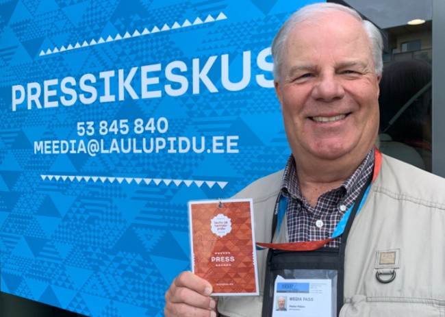 Perter Põldre with oficial Media Pass (2019)
