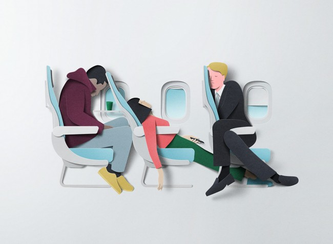 """An illustration from Eiko Ojala's series """"Busy Times"""". Photo: ploom.tv"""