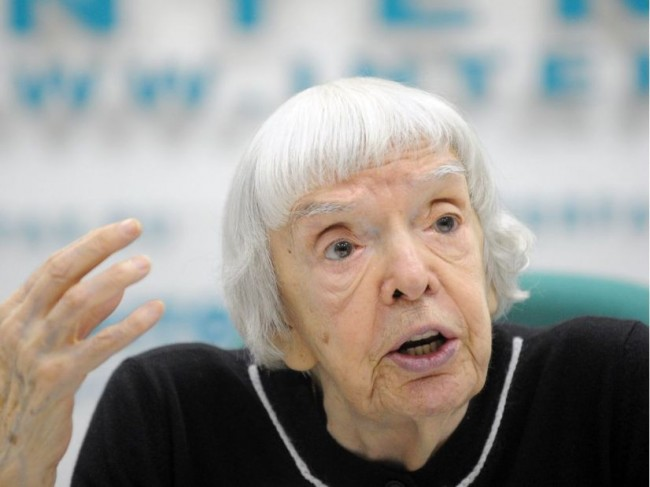 Even legendary human rights activist Lyudmila Alexeyeva has been labelled a fascist by Kremlin propagandists. NATALIA KOLESNIKOVA / AFP/GETTY IMAGES