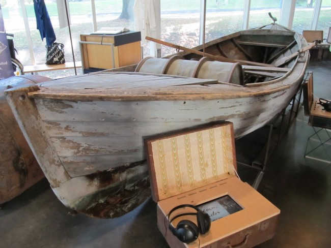 This fishing motorboat, on display at the Museum of Occupations in Tallinn, was built in the 1930s. It safely reached the island of Gotland in Sweden in the fall of 1944 with its cargo of passengers escaping Estonia ahead of the next Soviet invasion. Photo: Riina Kindlam