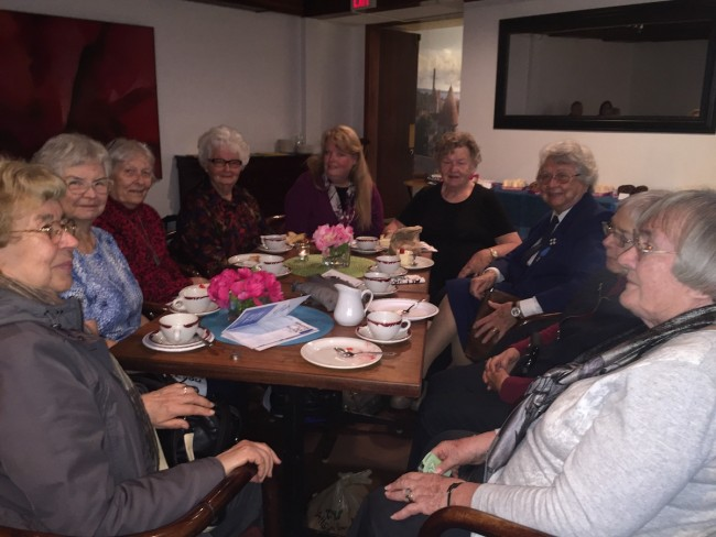 Girl Guides Friends enjoying treats at the recent Friends' of Estonian House Café.