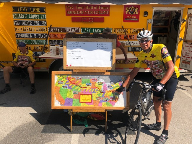 Tom Napa nearing the end of the Northern Transcontinental 2021 PAC Tour.