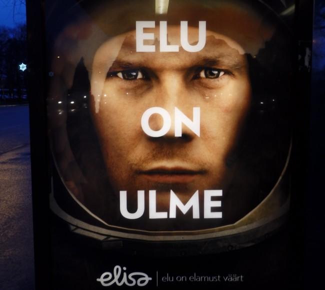 This ad campaign happened to appear around the same time news spread of the passing of prominent American writer Ursula Le Guin, known mostly for her science fiction and fantasy novels. Estonians know her mostly as an ULME/KIRJANIK. Photo: Riina Kindlam (2018)