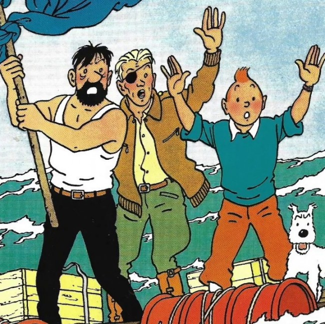 Detail from The Adventures of Tintin — The Red Sea Sharks