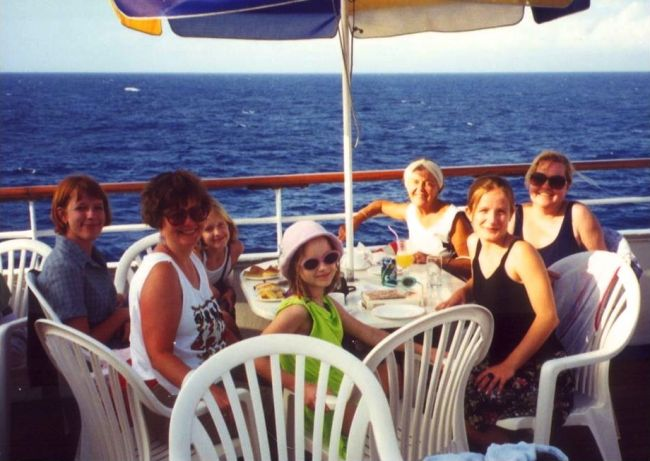 Cruising the Caribbean with daughters and granddaughters - 1998