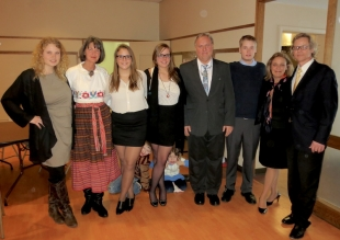 The Peil and Wichman families at a celebration of the 95th Anniversary of Estonian Independence in Michigan, USA.  Photo:  Ool Pärdi.