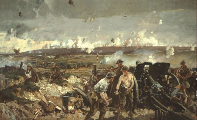 The Battle of Vimy Ridge, a painting by Richard Jack. Canadian War Museum - www.wikipedia.org