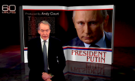 """Russian President Vladimir Putin is interviewed on CBS newsmagazine """"60 Minutes"""" by anchor Charlie Rose"""