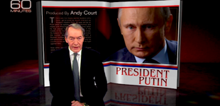 "Russian President Vladimir Putin is interviewed on CBS newsmagazine ""60 Minutes"" by anchor Charlie Rose"
