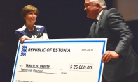 Tribute to Liberty Gratefully Accepts Estonian Contribution