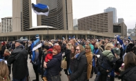 FOTOGALERII/VIDEO - EV100 auks lipu heiskamine ja juubelipidustused Torontos Nathan Phillips Square'il
