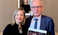 Estonian Centre Project Update - Parliamentary Speaker Mr. Eiki Nestor met with the Chair of the International Estonian Centre Steering Committee, Ellen Valter in Tallinn