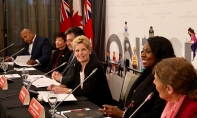 Premier Kathleen Wynne meets with Ethnic Media to discuss the 2018 Budget