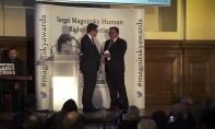 Marcus Kolga Presents Magnitksy Award in London