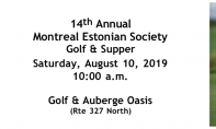 14th Annual Montreal Estonian Society Golf & Supper