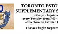 TORONTO ESTONIAN SUPPLEMENTARY SCHOOL  invites you to join us 2019/2020 school year