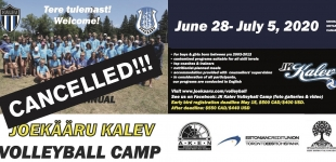 Jõekääru KALEV - VOLLEYBALL CAMP 2020 CANCELLED!!!