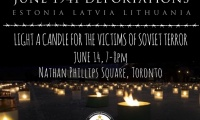 Toronto Candle Lighting for the Victims of the June 1941 Soviet Deportations